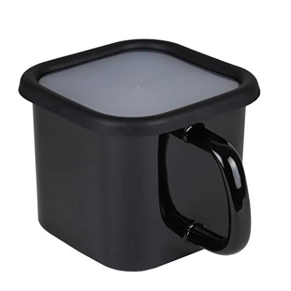 [BLKP] Cook pot A storage container that can also be used as a one-handed pot Limited black 12 cm Enamel IH compatible BLKP black AZ-5066