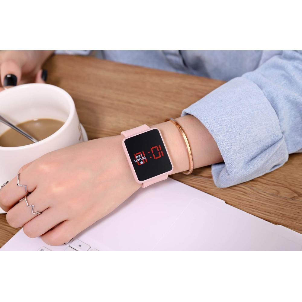 WUTAN Ladies Watch Stylish Fashion Ladies Timepiece Teen Girls Dress Watch SN145 Ladies Digital Watch Pink