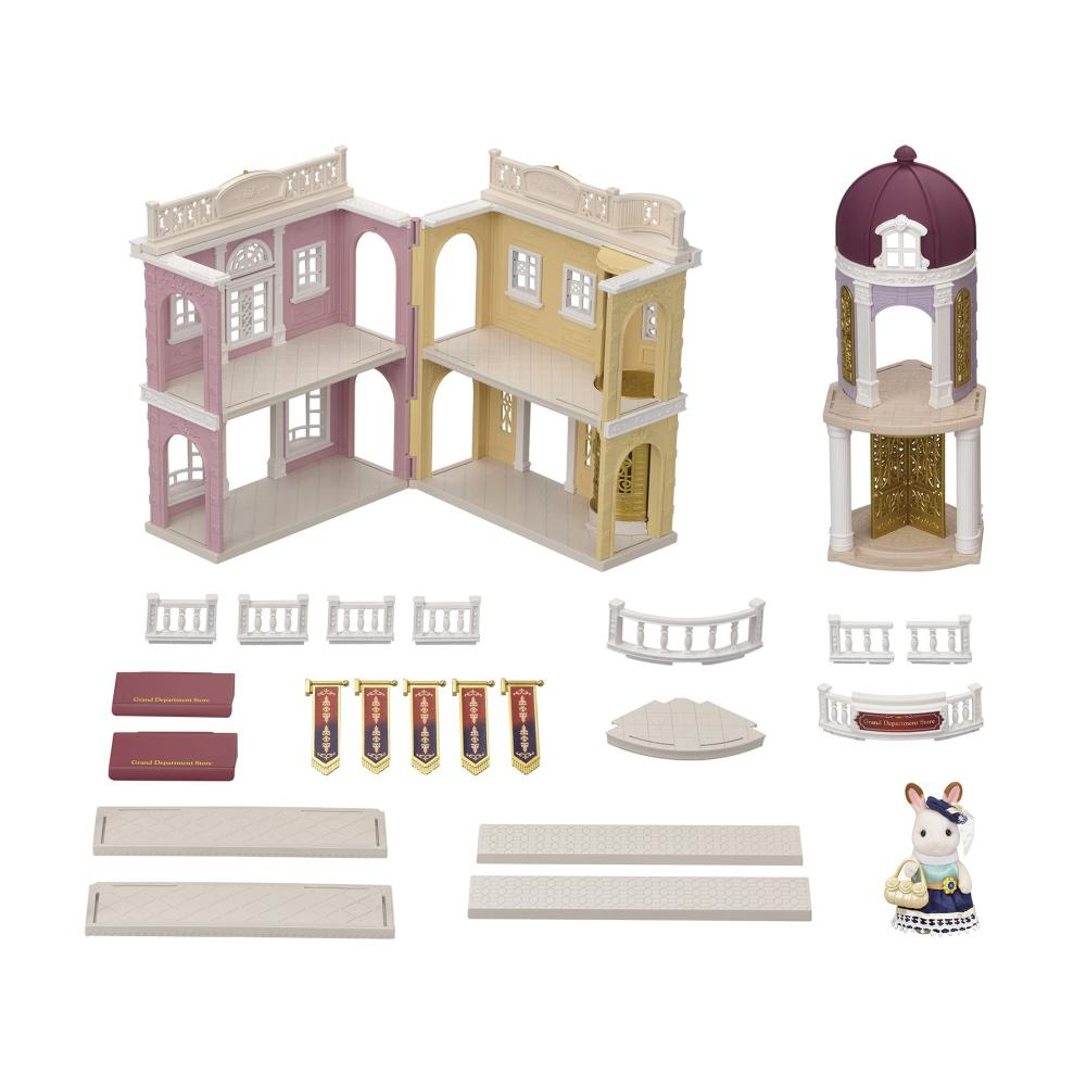 Sylvanian Families Town series street of fashionable department store deluxe set TS-12 + baby with Santa