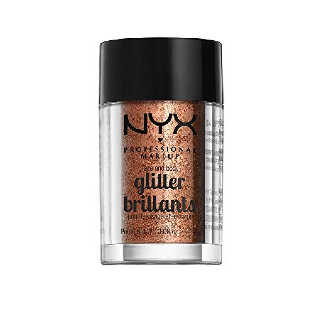 NYX Professional Makeup Face & Body Glitter 04 Color Copper