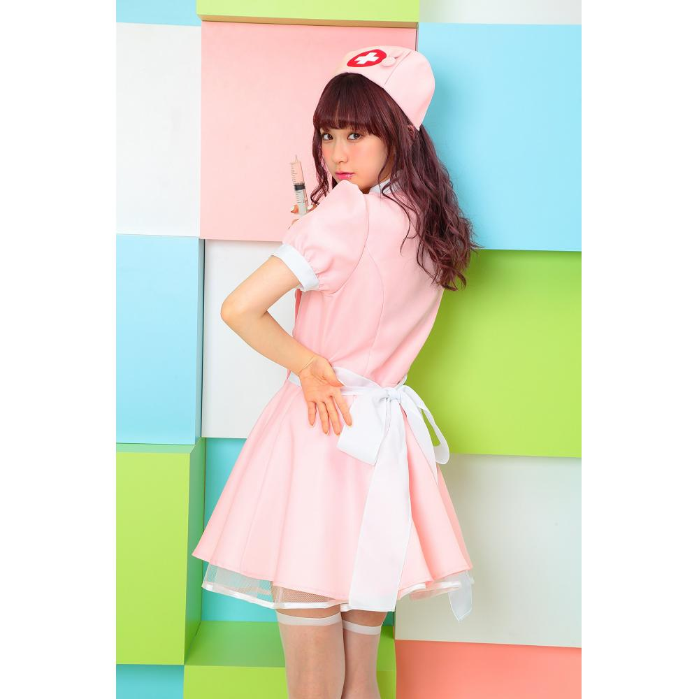 TG VIP flare Lee Old Nurse Cosplay Women's 4-piece set pink