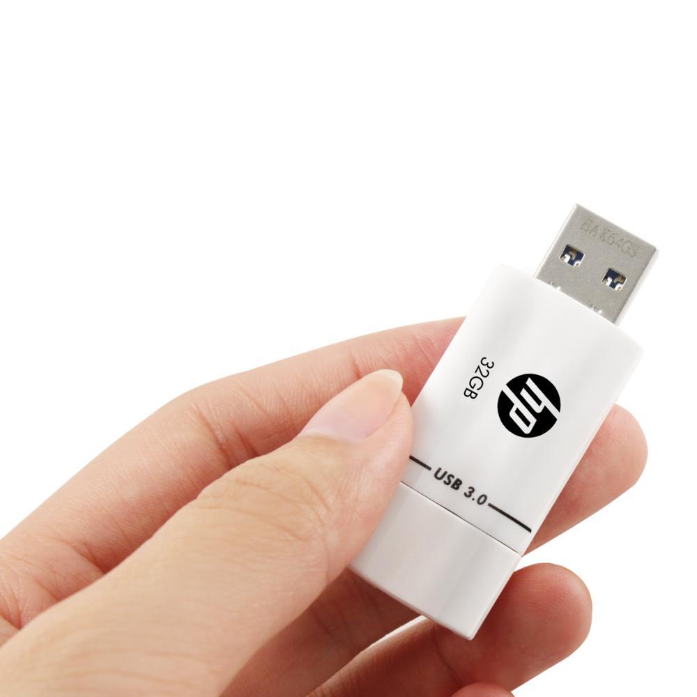 HP USB memory 32GB USB3.0 White Sliding shockproof and dustproof flash drive x765w HPFD765W-32