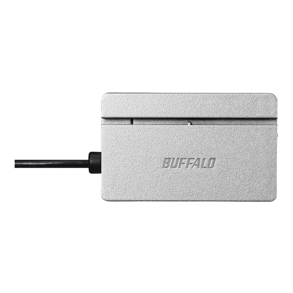 BUFFALO USB2.0 Multi-Card Reader standard model Silver BSCR105U2SV