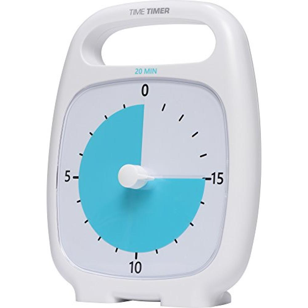 Time timer 20-minute timer with a handle plus white TT20-W