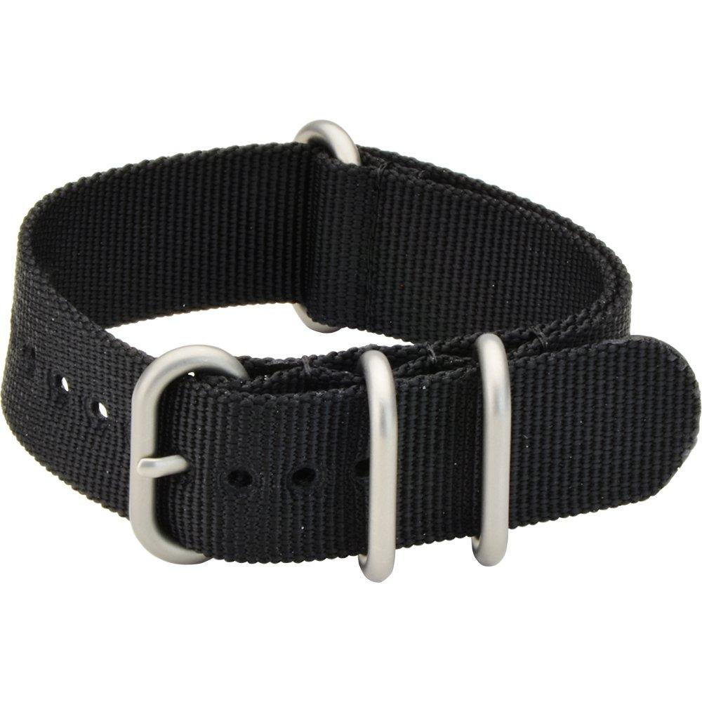 CASSIS watch belt TYPE NATO ring type NATO ring 22mm black with replacement tool B1008S02019022