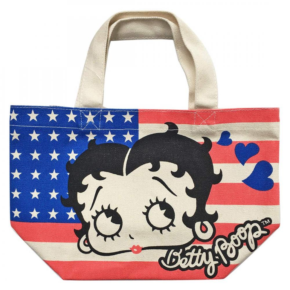 Betty Boop gusseted bag Stars and Stripes BTAP87