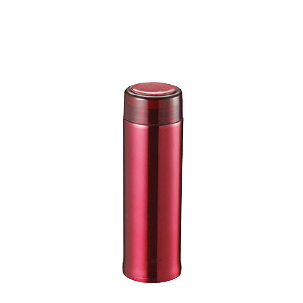 Captain STAG Water bottle Bottle direct drink Weighing Slim personal bottle Double stainless steel Vacuum insulation Heat insulation/Cold insulation with ice stopper 400 ml Clear Red Sea Esprit UE-3406