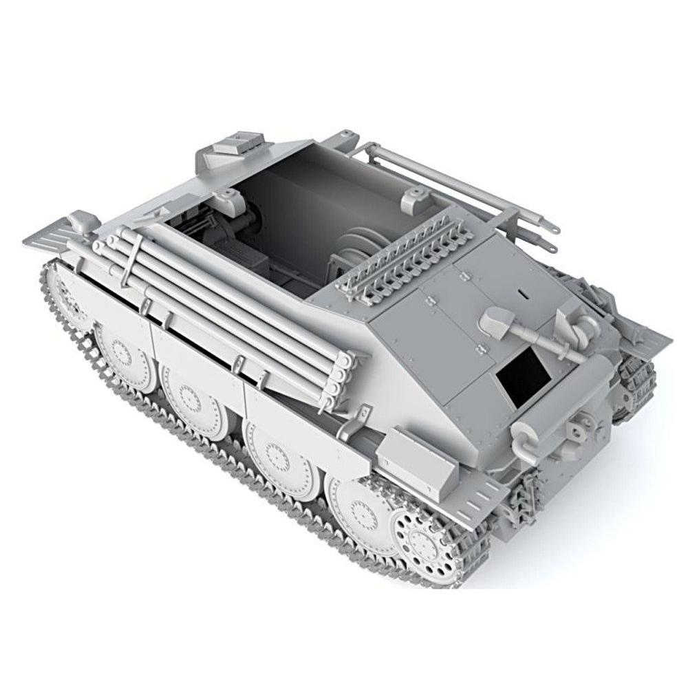 Thunder Model 1/35 German Army Berge Hetzer Tank Recovery Vehicle Early Type (Limited Edition) Plastic Model 35103