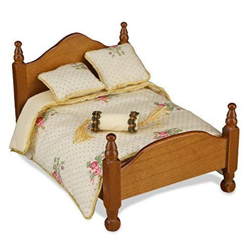 [Reuters Porcelain] [Miniature] [Bed Separately Sold] [Linen Only] Bed Linen Rose RP1829-3