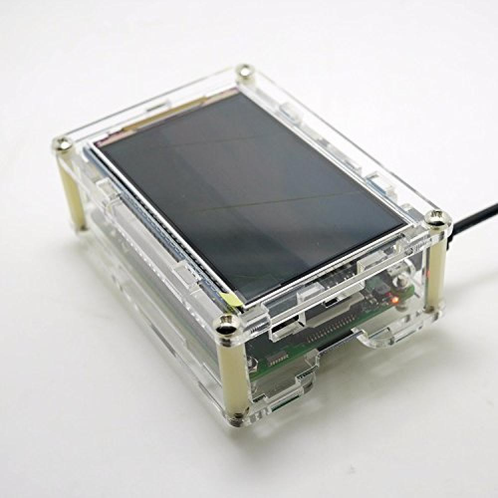 WINGONEER Raspberry Pi Acrylic Case/Shell/Enclosure for 3.5 inch 800x480 HD Screen Raspberry Pi 3B 2B B+