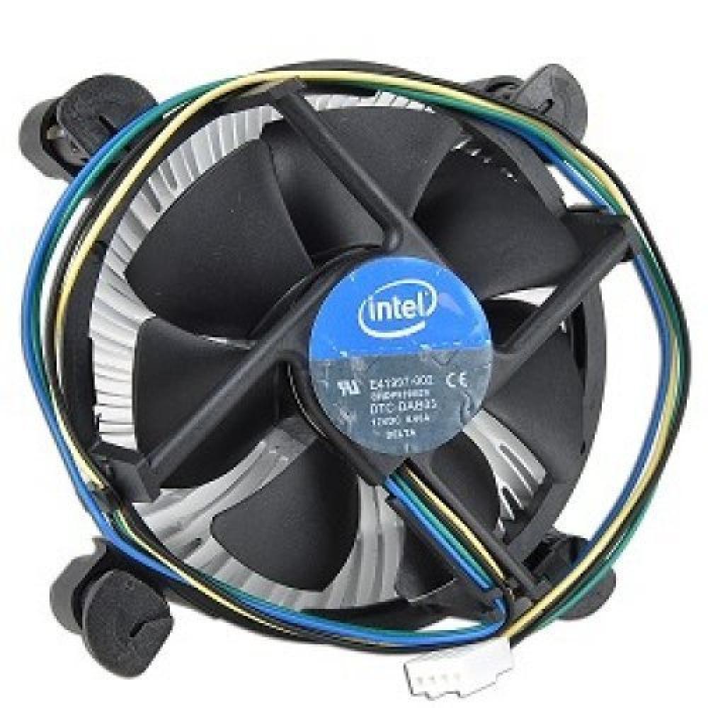 "Intel E41997-002 Socket 1156 Aluminum Heat Sink & 3.5"" Fan w/4-Pin Connector for Core i7, i5 & i3"