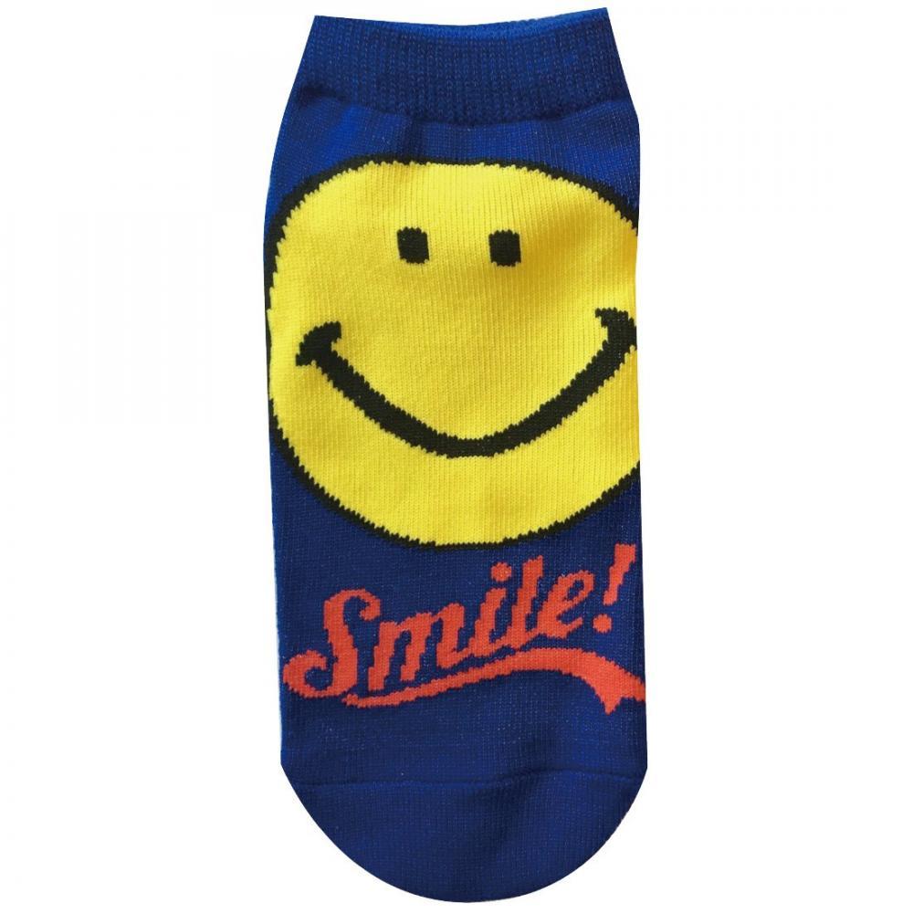 Smile socks logo blue 22cm ~ 24cm SMSOC65E