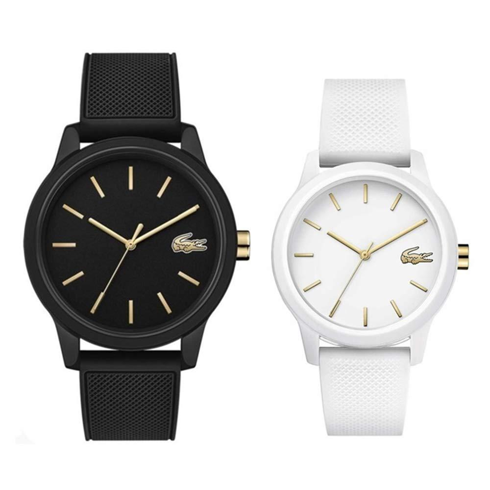 [Lacoste] LACOSTE [With Pair Storage Case] Pair Watch Men's Women's Gold Rubber Black White and Kei 20110102001063 Watch