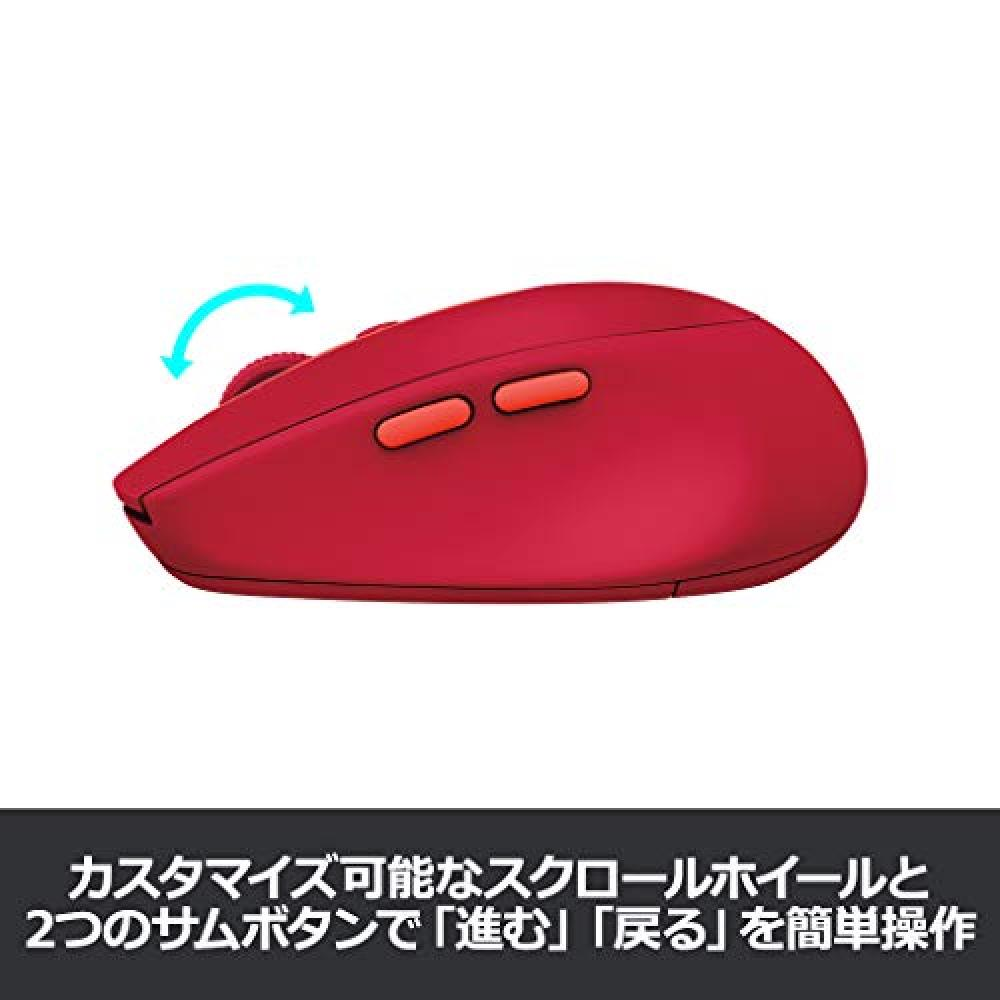 Logitech Wireless Mouse Wireless Mouse Bluetbooth Unifying 7 Button M585RU Ruby windows mac Chrome Android iPad OS Compatible M585