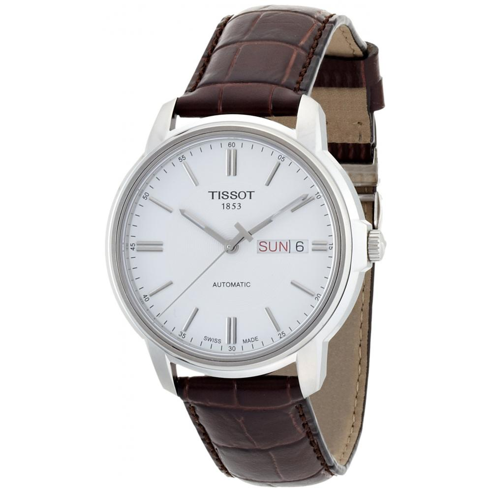 TISSOT watch Automatic III Three automatic silver dial leather T0654301603100 Men's