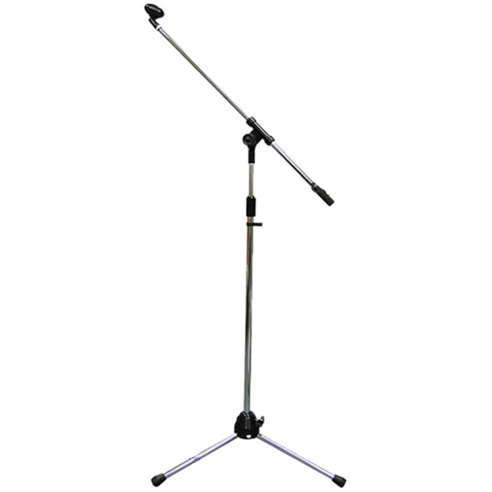 KC Boom Microphone Stand Straight type dual use MBCS/CR Chrome (with soft case and microphone holder)