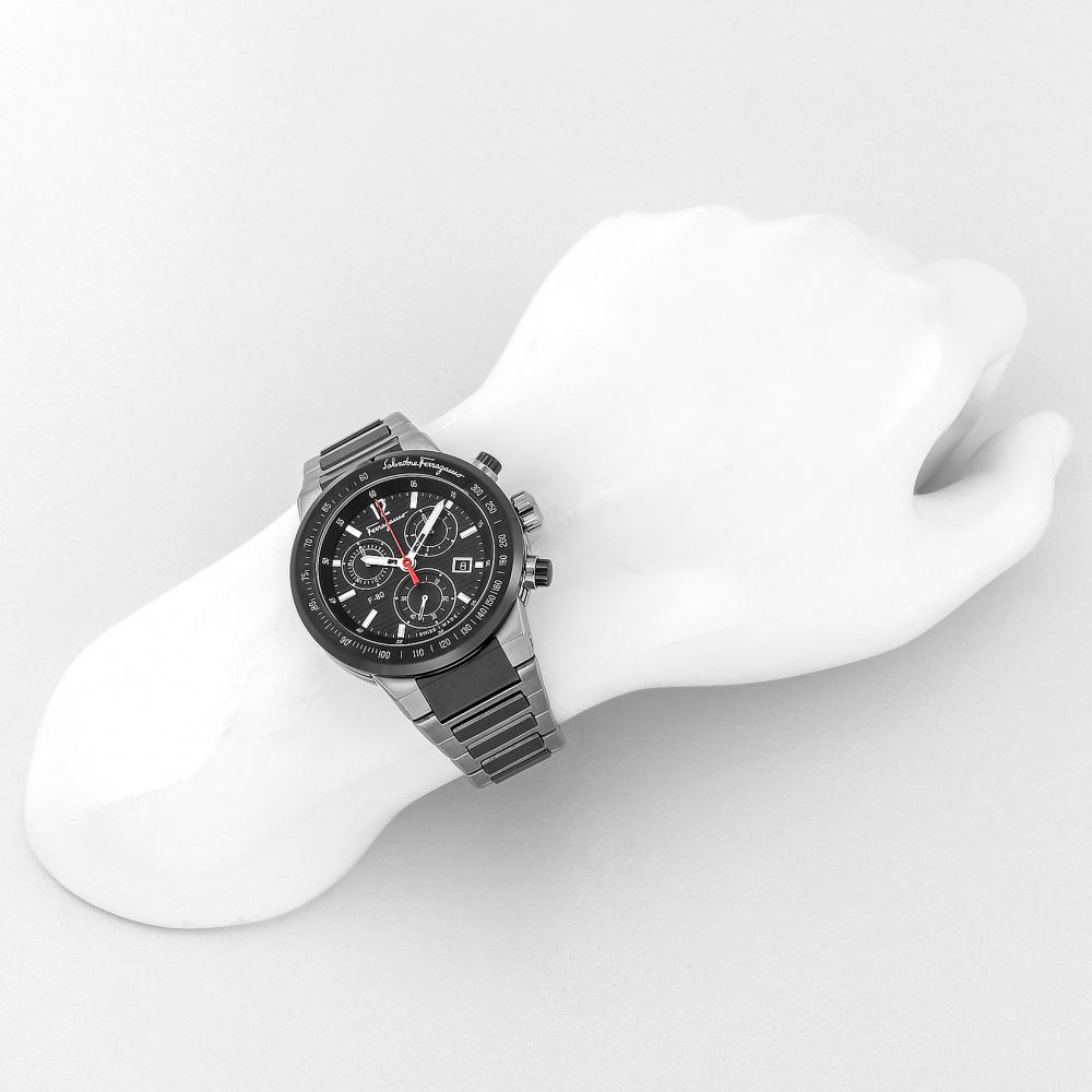 Salvatore Ferragamo watch F-80 Black Dial F55030014 Men's