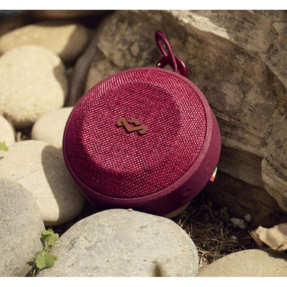 House of Marley Wireless Portable Waterproof Speaker NO BOUNDS Dustproof/Small Size/Light Weight/High Durability/Bluetooth Compatible Red