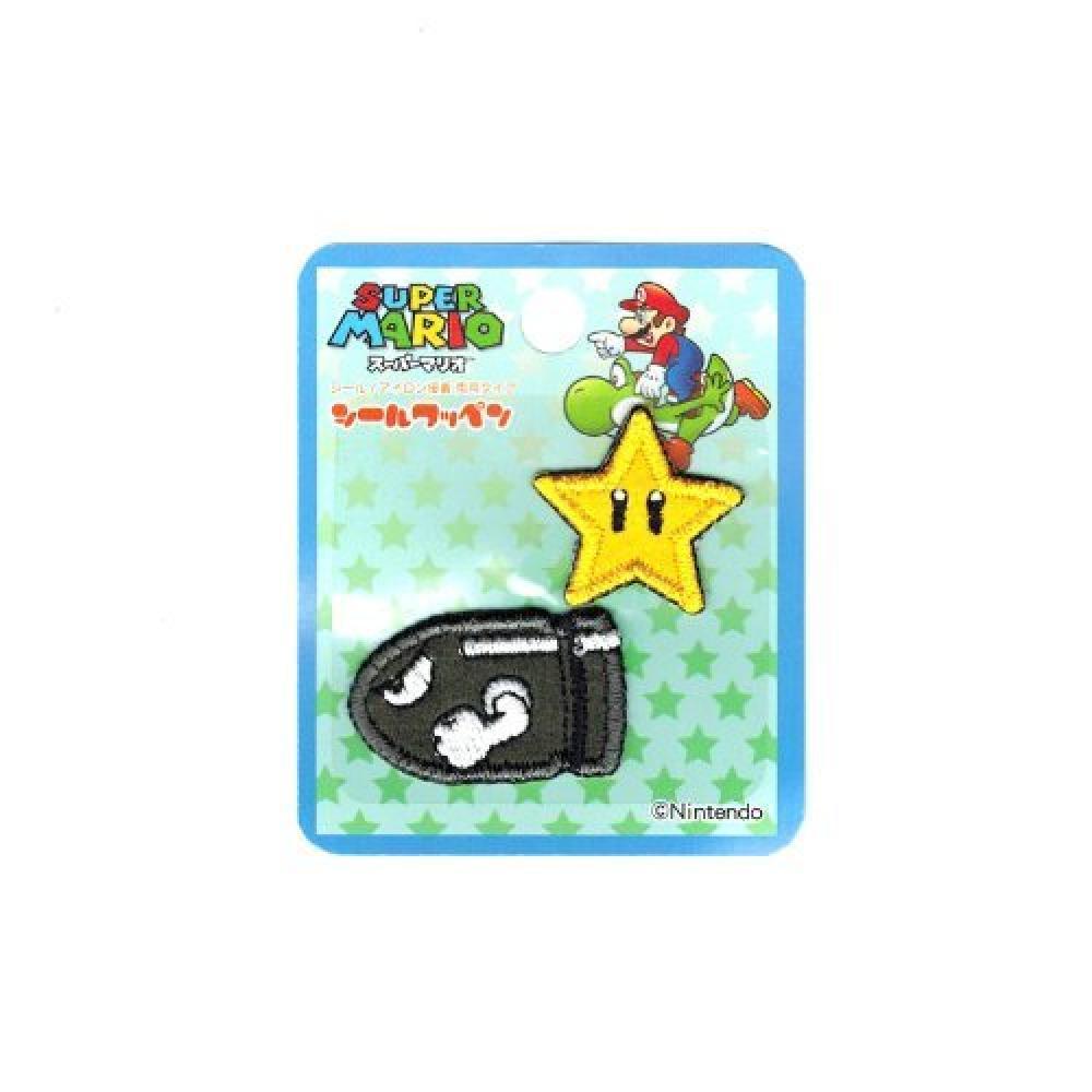 Inagaki clothing Super Mario seal emblem superstar & killer seal and ironing dual MRS011