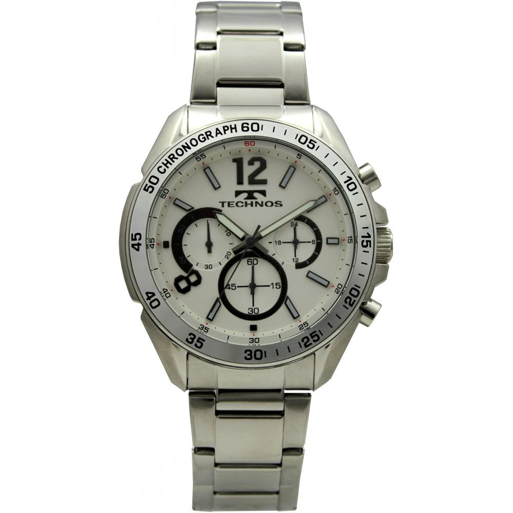 [Technos] Watch Chronograph 10 ATM Water Resistant T5603SW Men's Silver
