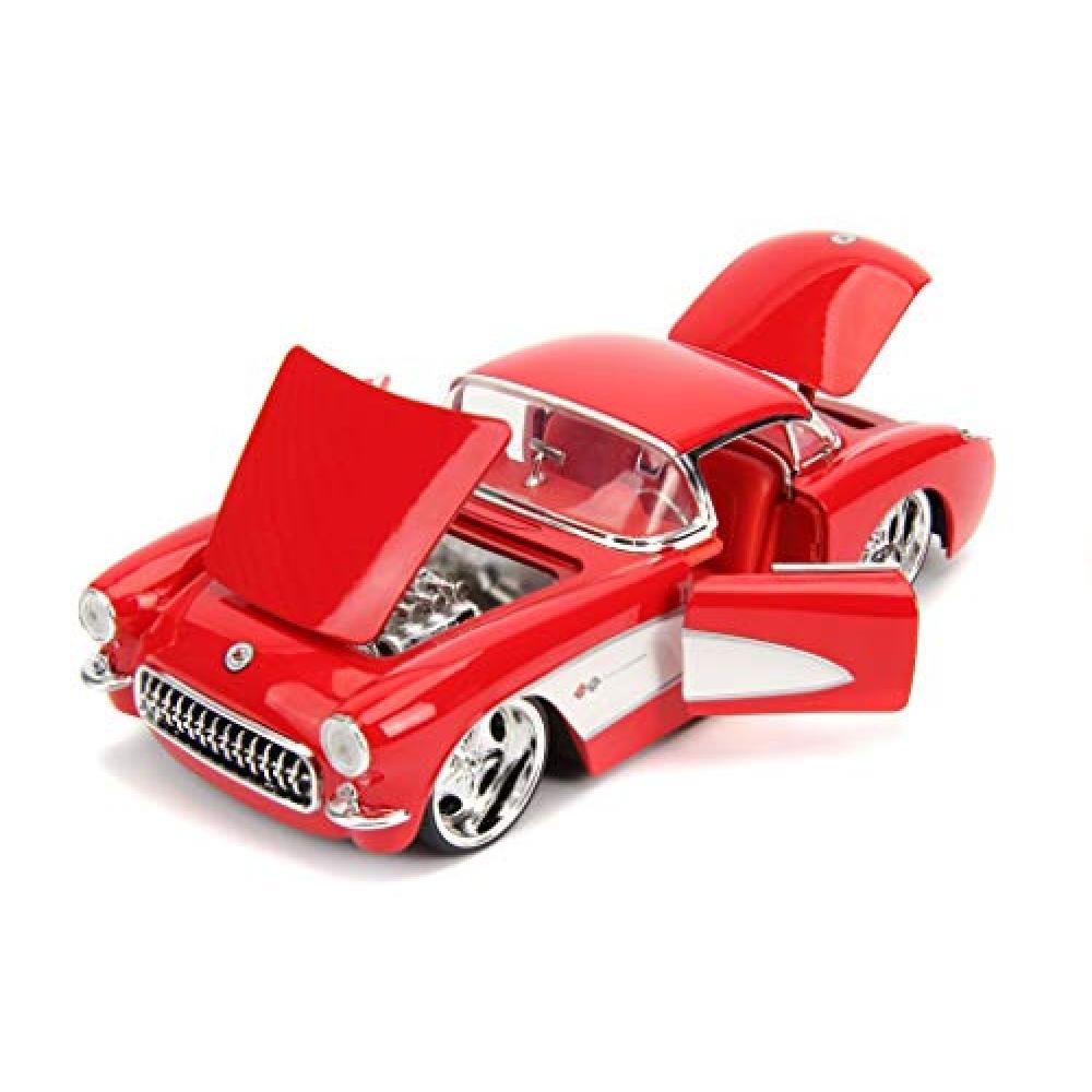 JADA TOYS minicar 1/24 size 1957 Chevy Corvette (Glossy Red)