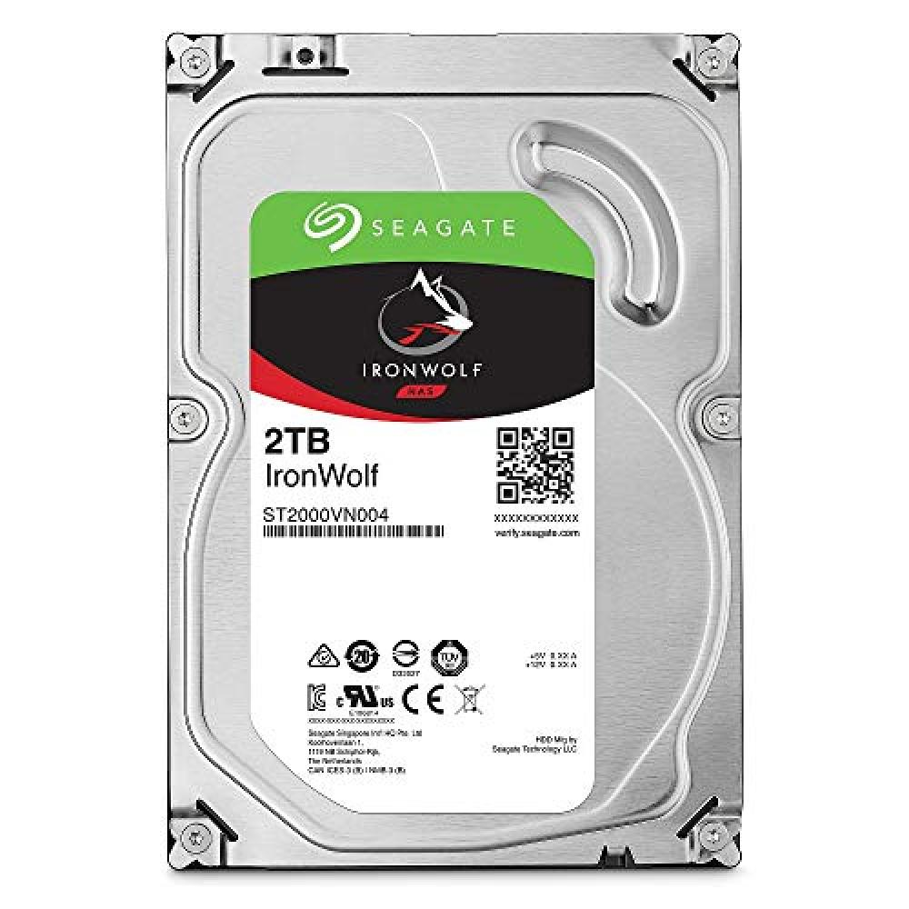 "Seagate IronWolf 3.5"" 2TB internal hard disk HDD 6Gb/s 64MB 5900rpm 24 hours operation PC2000 for NAS NAS ST2000VN004"