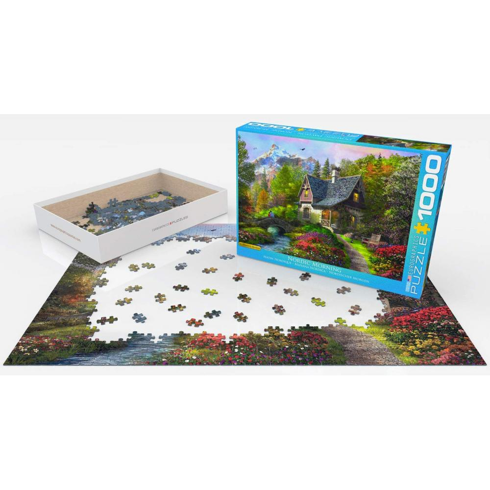 Jigsaw puzzle 1000 pieces Euro graphics Scandinavian morning 6000-0966