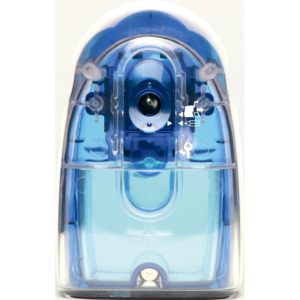Sonic Pencil sharpener Manual pencil sharpener Half skeleton clear blue SK-804-CB