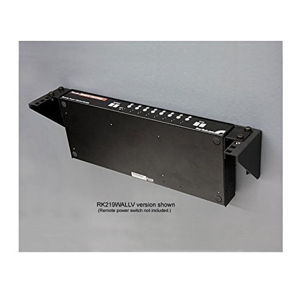 "StarTech.com Steel Vertical Rack Mount Bracket 3U/19"" Wall Mount Rack Mount Adapter Load Capacity 57kg RK319WALLV"