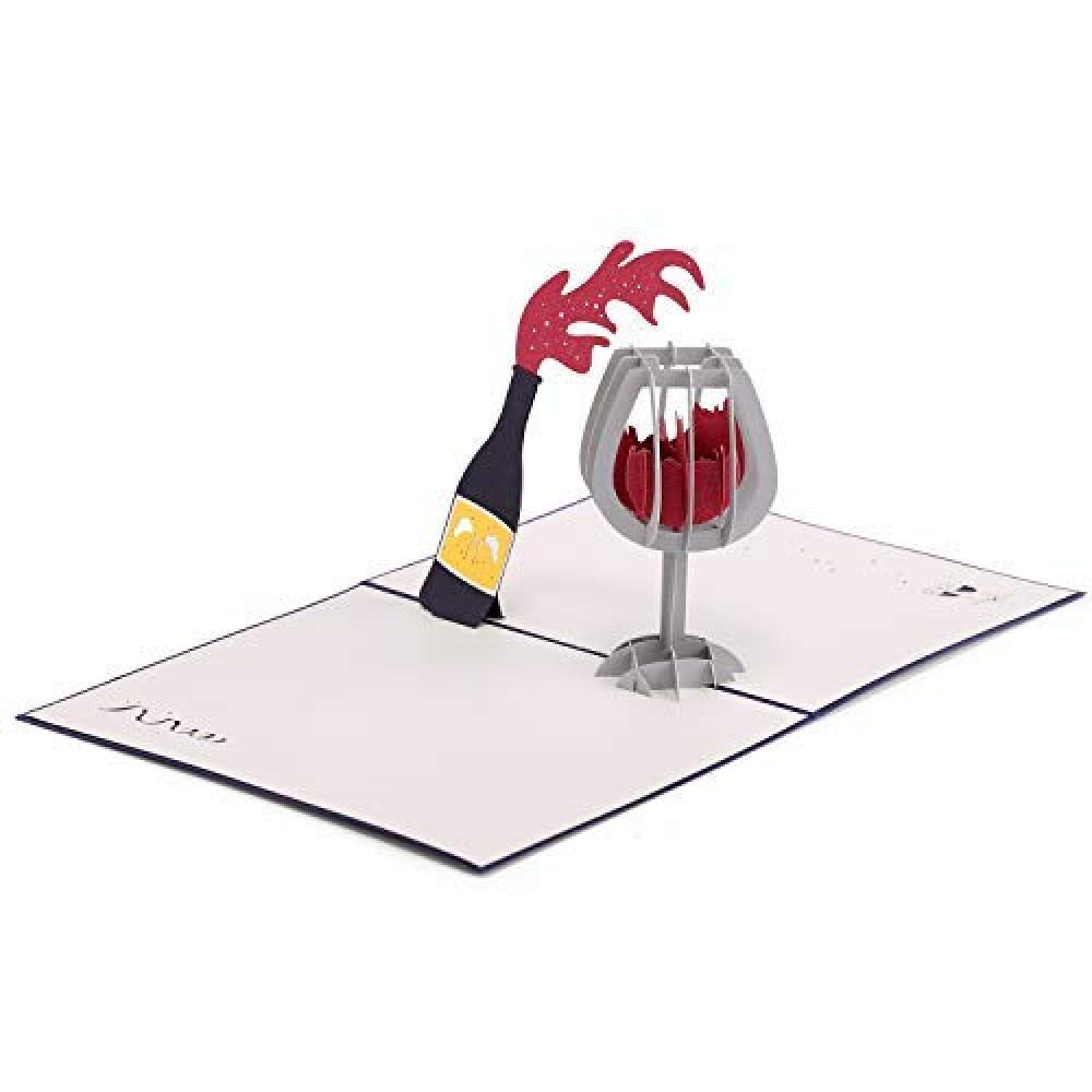 Paper Spiritz Red wine Birthday card Three-dimensional message card Postcard Christmas card Birthday message card Appreciation letter Entrance celebration Congratulations Happy graduation Marriage Wedding card Fashionable birth celebration card Birthday Card Japanese style envelope Celebration child anniversary card