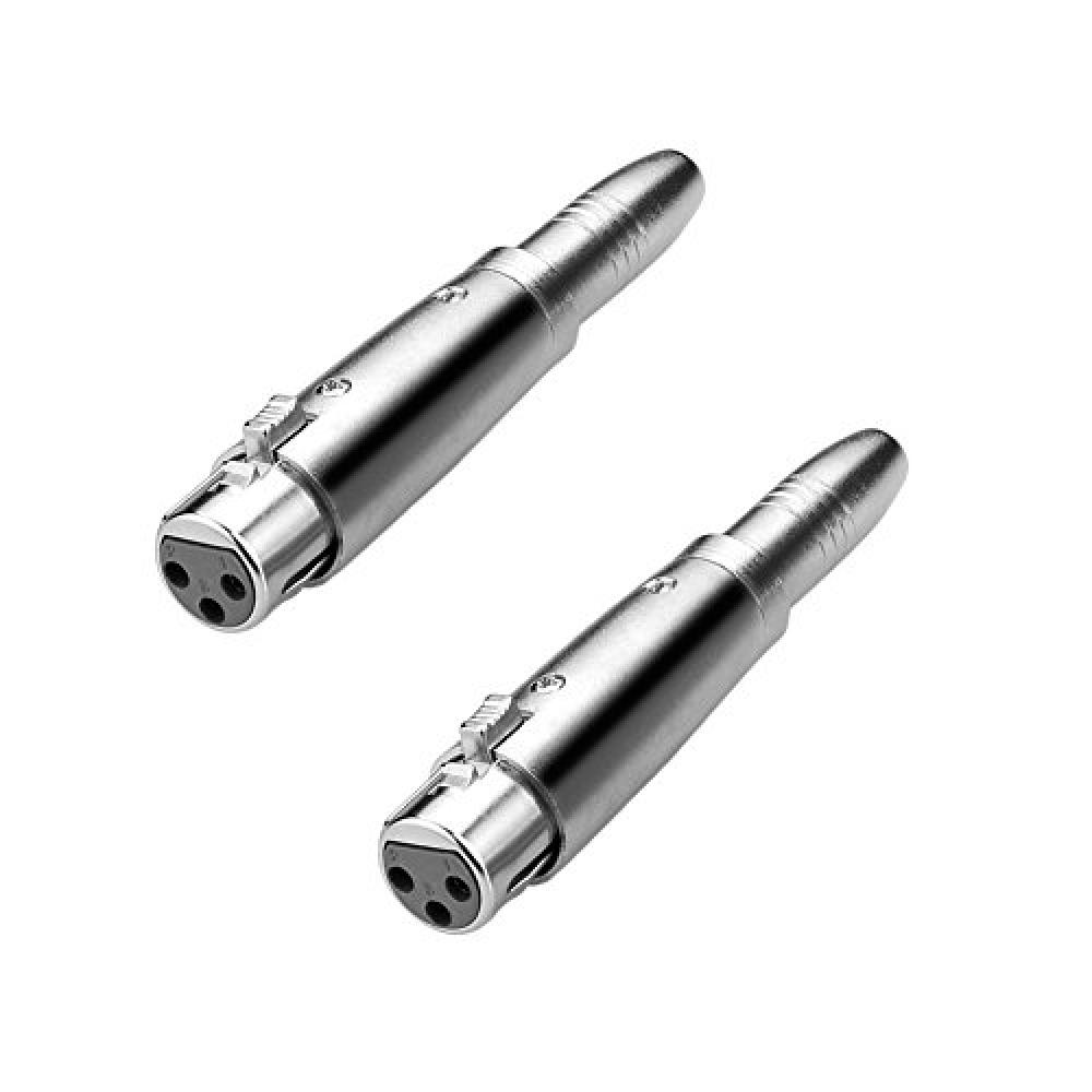 EIGHTNOO 3 pin Canon ⇔ 6.35mm 1/4'' phone jack female conversion/extension connector (2 female)