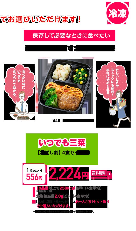 いつでも三菜 【お試し割】4食セットS-1