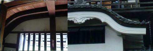 犬山城 - 唐破風の外側と内側