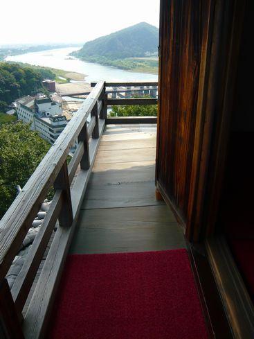 犬山城天守最上階の外廻縁