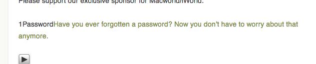 """記事の一番下にある """"Have you ever forgotten a password? ..."""" をクリック。"""