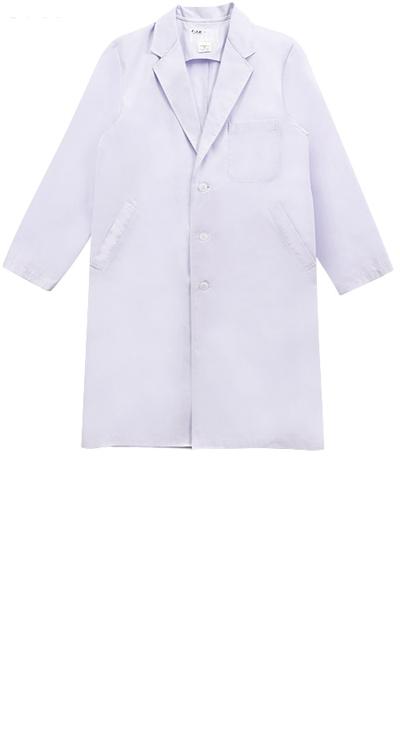メンズ診察衣シングル/白衣販売。刺繍、プリント加工対応します。研修医、医療チームウェアに人気