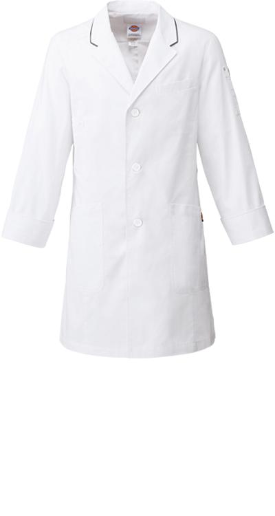 ディッキーズ メンズシングルコート/白衣販売。刺繍、プリント加工対応します。研修医、医療チームウェアに人気