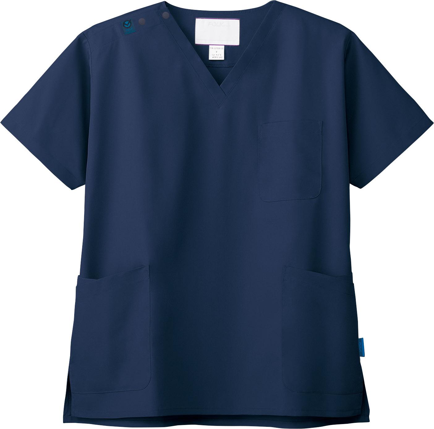 ジア・スクラブ(男女兼用)販売。刺繍、プリント加工対応します。研修医、医療チームウェアに人気