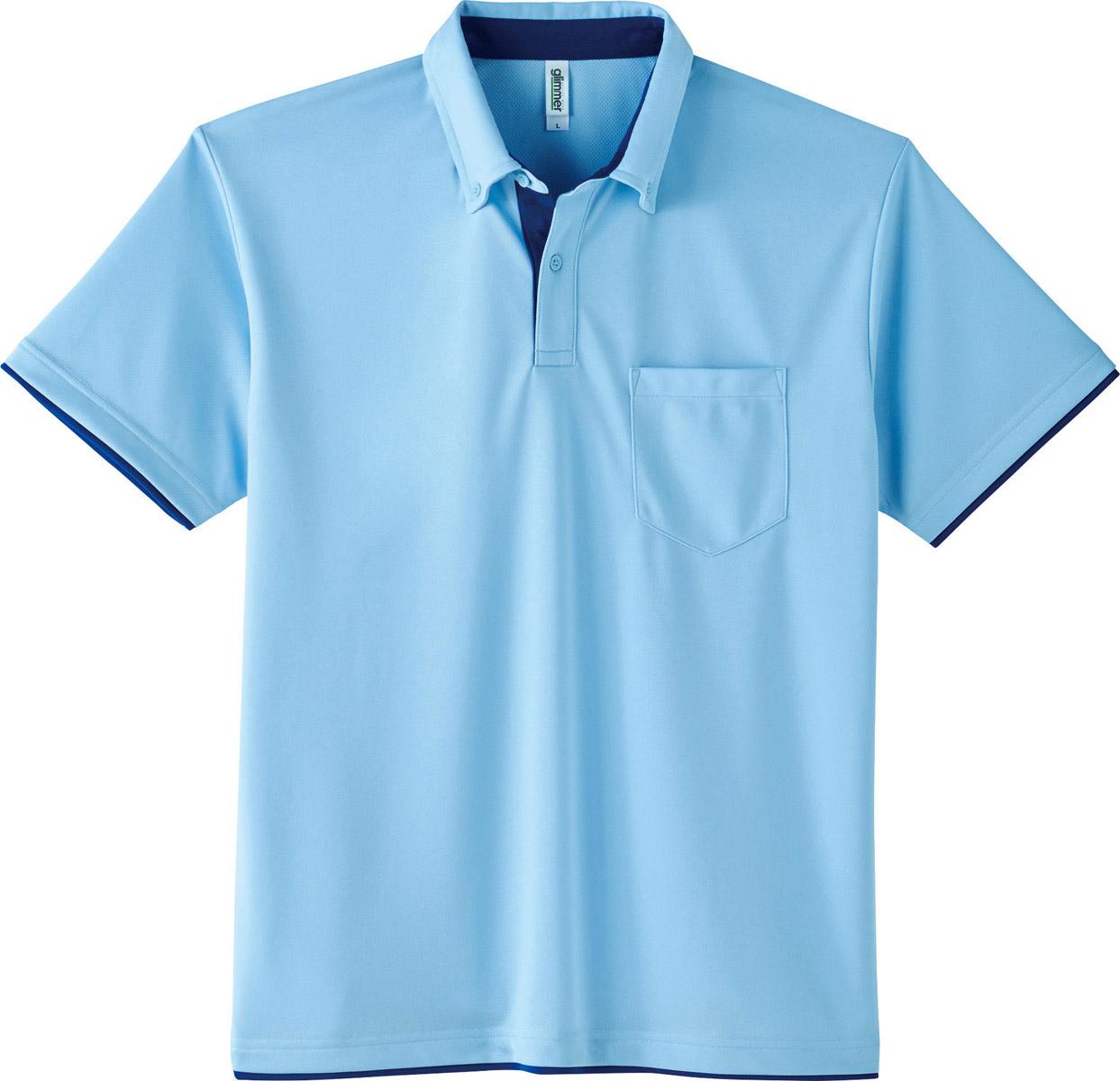 4.4オンス ドライレイヤードボタンダウンポロシャツ(ポケット付)販売。刺繍、プリント加工対応します。研修医、医療チームウェアに人気