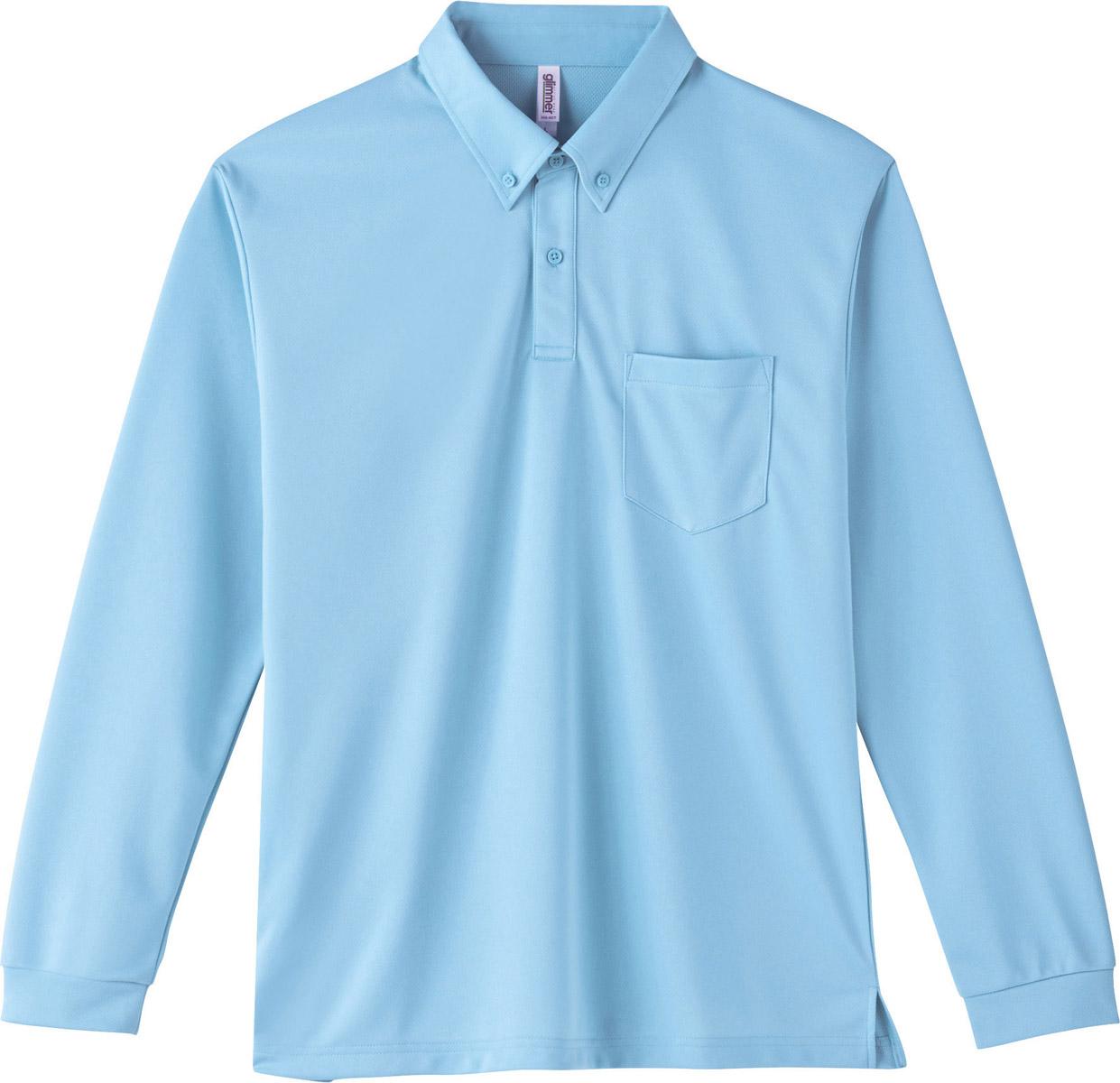 4.4オンス ドライボタンダウン長袖ポロシャツ(ポケット付)販売。刺繍、プリント加工対応します。研修医、医療チームウェアに人気