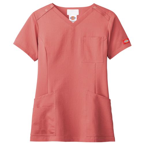 ディッキーズ レディーススクラブ販売。刺繍、プリント加工対応します。研修医、医療チームウェアに人気