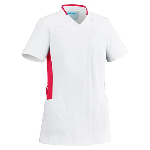 カゼン レディススクラブ(前開き)販売。刺繍、プリント加工対応します。研修医、医療チームウェアに人気