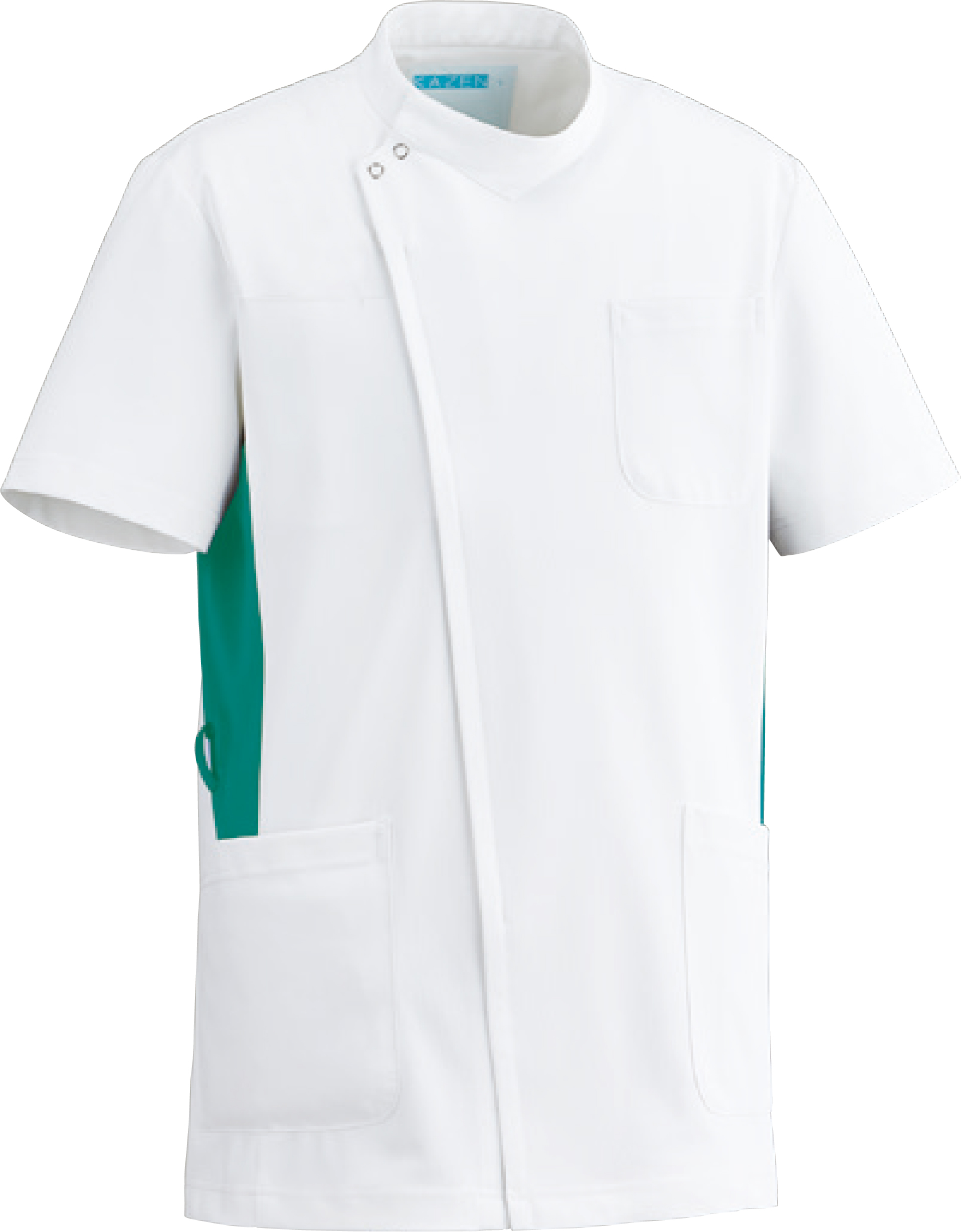 カゼン メンズジャケット半袖販売。刺繍、プリント加工対応します。研修医、医療チームウェアに人気