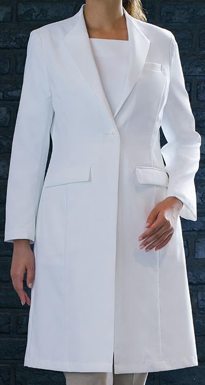 カゼン レディス診察衣/白衣販売。刺繍、プリント加工対応します。研修医、医療チームウェアに人気