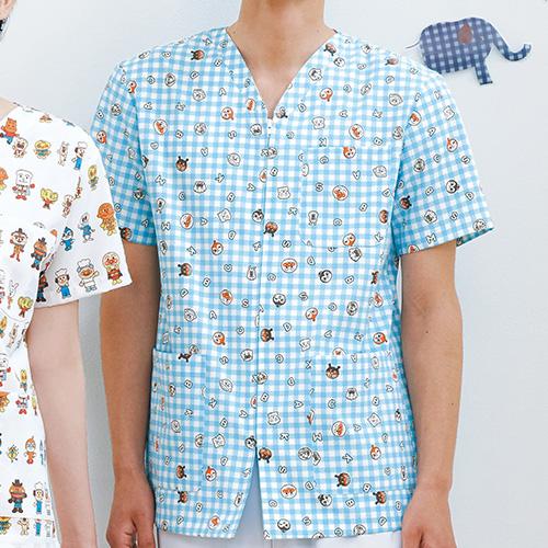 アンパンマン スクラブ(男女兼用)販売。刺繍、プリント加工対応します。研修医、医療チームウェアに人気