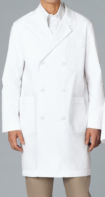 カゼン メンズ診察衣W型/白衣(ハーフ丈)販売。刺繍、プリント加工対応します。研修医、医療チームウェアに人気