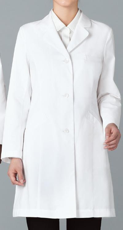 カゼン レディス診察衣S型/白衣(ハーフ丈)販売。刺繍、プリント加工対応します。研修医、医療チームウェアに人気