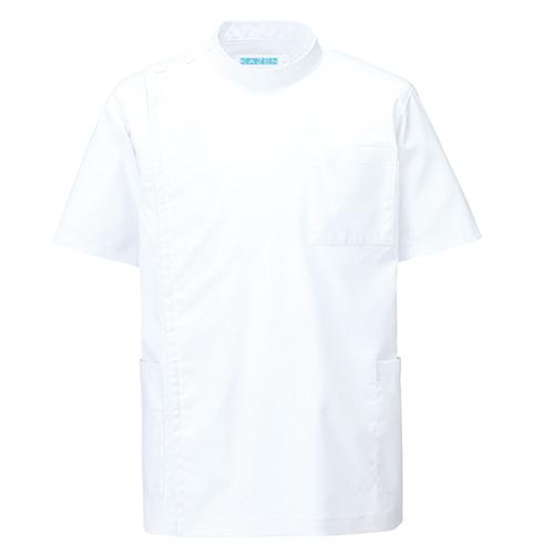 カゼン メンズ医務衣半袖販売。刺繍、プリント加工対応します。研修医、医療チームウェアに人気