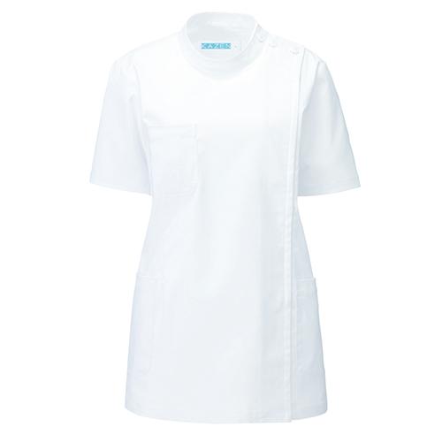 カゼン レディス医務衣半袖販売。刺繍、プリント加工対応します。研修医、医療チームウェアに人気