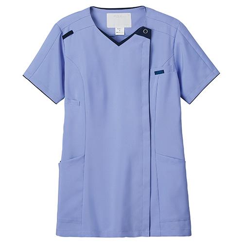レディスニットスクラブ販売。刺繍、プリント加工対応します。研修医、医療チームウェアに人気